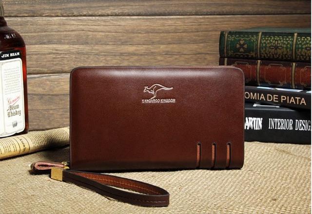 Стильный клатч KANGAROO KINGDOM. Недорогое кожаное портмоне. Практичный клатч. Код: КС30 - фото 6