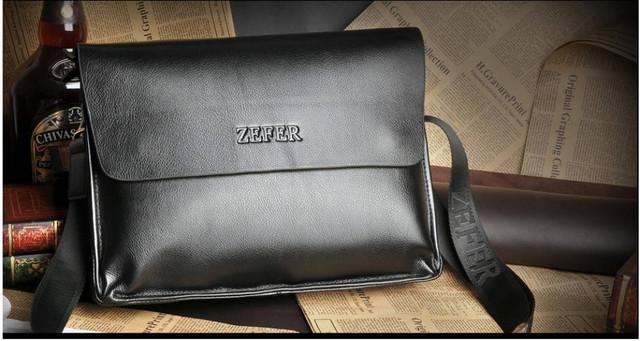 Кожаная мужская сумка портфель ЗЕФЕР А4. Сумки для мужчин. Модные сумки. Офисные сумки. Код: КСДЕ24-2 - фото 4