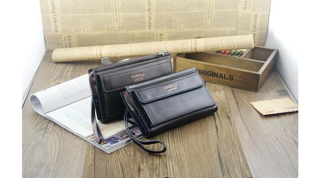 Качественная Мужская кожаная сумка, борсетка, клатч, кошелек ДАНИЛУ. Код: КСЕ68 - фото 8