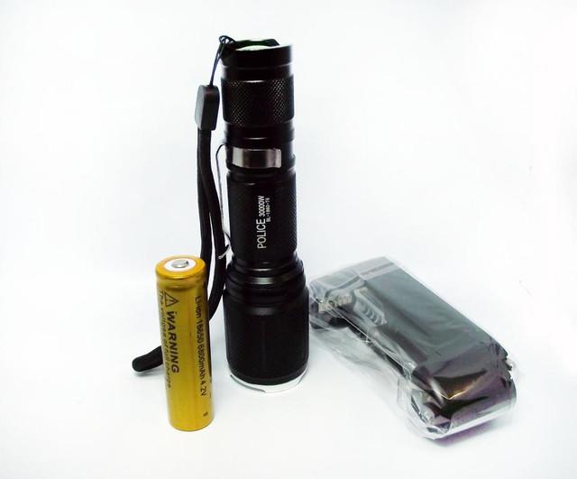 Качественный фонарик Police BL 1860 T6 30000W. Недорогой фонарик на гарантии. Код: КТМ153 - фото 7