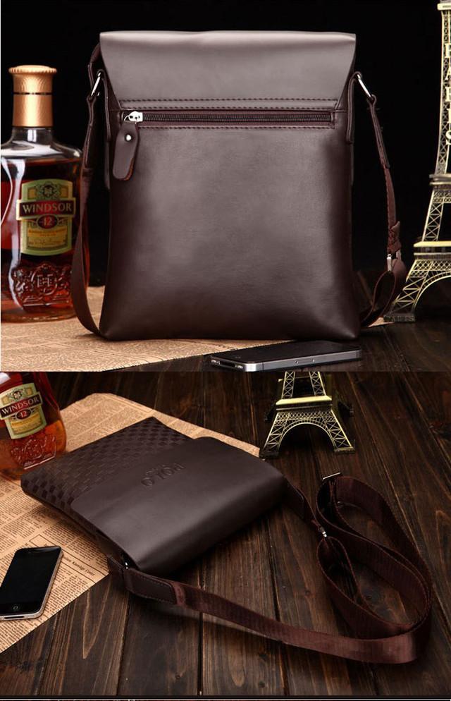 Молодежная Кожаная мужская сумка ПОЛО. Сумки для мужчин. Модные сумки. Бизнес сумки. Код: КСЕ47 - фото 2