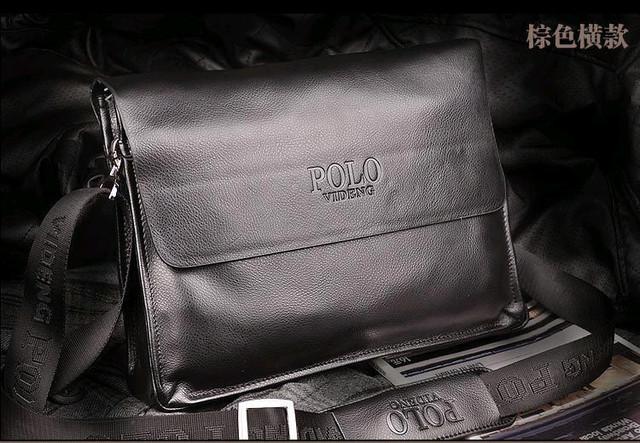 Кожаная мужская сумка портфель ПОЛО А4. Сумки для мужчин. Модные сумки. Офисные сумки. Код: КСЕ46-1 - фото 1