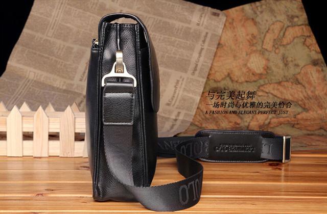 Кожаная мужская сумка портфель ПОЛО А4. Сумки для мужчин. Модные сумки. Офисные сумки. Код: КСЕ46-1 - фото 3