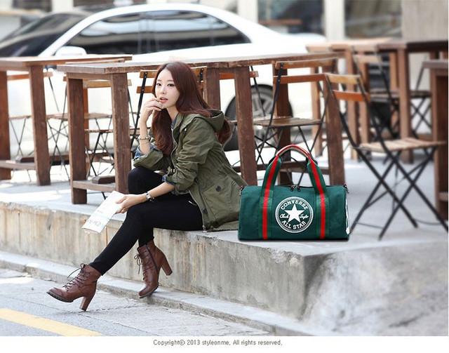 Городская сумка Converse. Спортивная сумка. Дорожная сумка. Мужская сумка. Женская сумка. Холст Код: КСС2 - фото 5