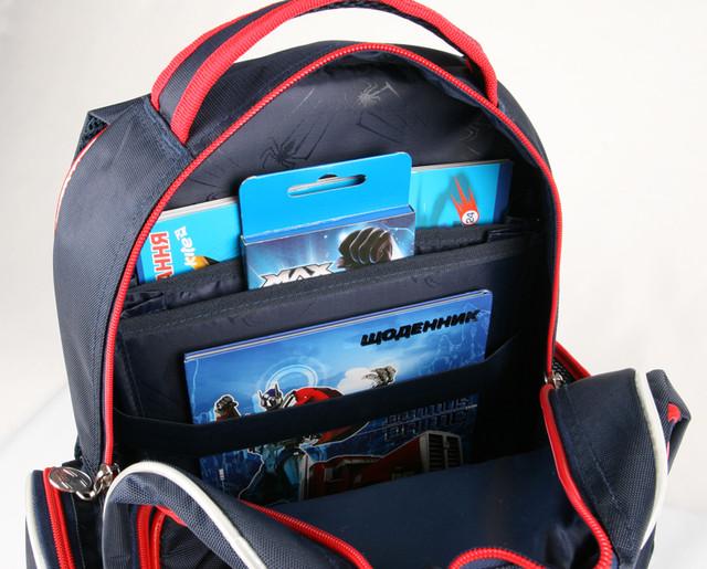 Рюкзак школьный, ортопедический Spider-Man Movie-2 KITE SM15-514S - фото 8