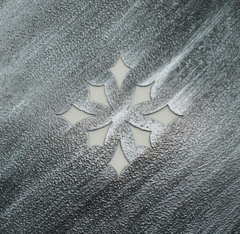 Полка кованая прямая 4 - фото Серебро