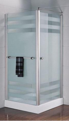 Душевая кабина квадратная BADICO SAN 1011 Fabric 100х100х195 с низким поддоном и сифоном - фото 1