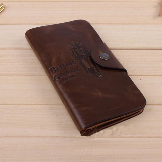 Хит продаж! Мужской кожаный кошелек, портмоне, бумажник. Кошельки для мужчин БАИЛИНИ. Лучший подарок. Код: КСЕ120 - фото 7