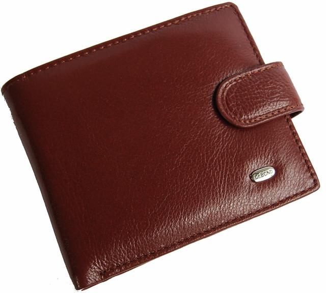 Кожаный мужской кошелек, портмоне, бумажник из кожи. Качество. НАТУРАЛЬНАЯ КОЖА! Код: КСЕ10 - фото 1