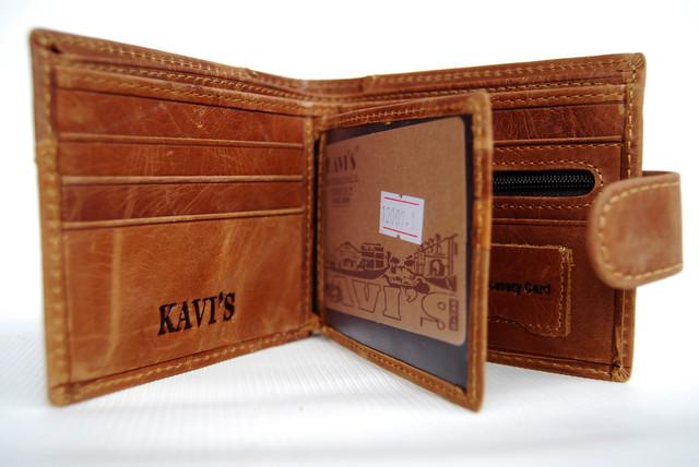 """Мужской кожаный кошелек, портмоне, бумажник KAVI""""S. Кошелек на подарок. Подарок для мужчин. НАТУРАЛЬНАЯ КОЖА! - фото 2"""