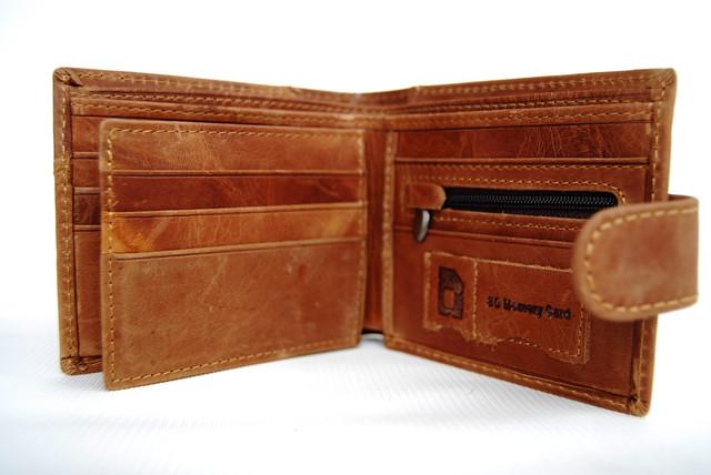 """Мужской кожаный кошелек, портмоне, бумажник KAVI""""S. Кошелек на подарок. Подарок для мужчин. НАТУРАЛЬНАЯ КОЖА! - фото 3"""