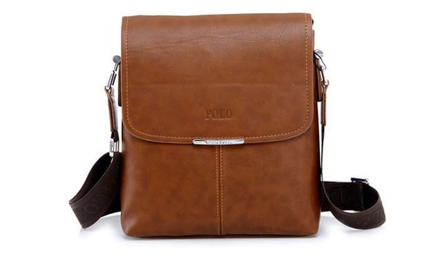 Мужская кожаная сумка POLO. Сумки кожаные. Кожанная cумка. Код: КС2-3 - фото 5