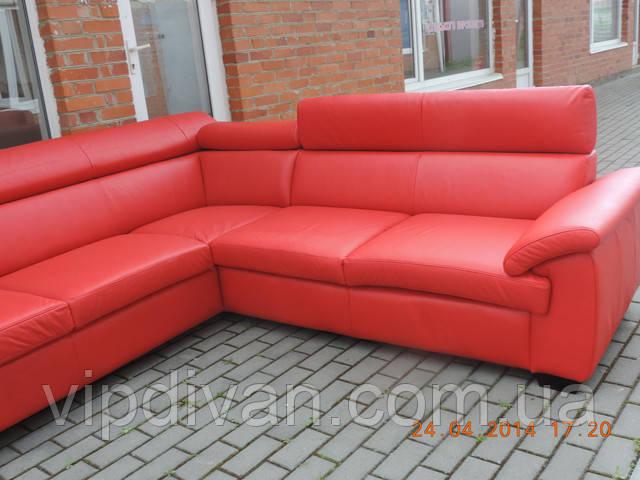 Кожаный уголок меблі шкіряні, кутовий диван, угловой диван Bozena - фото 1