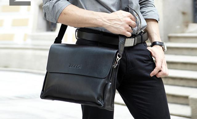 Красивая мужская сумка портфель ЗЕФЕР А4. Сумки для мужчин. Модные сумки. Офисные сумки. Код: КСЕ53 - фото 10
