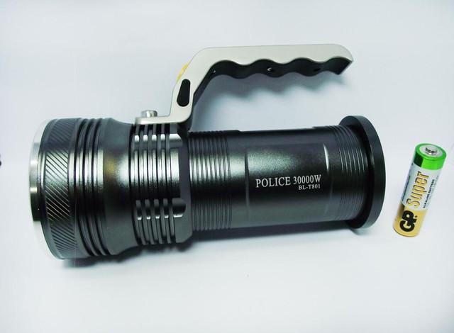 Тактический прожектор POLICE BL-T801. Современный супермощный фонарь. 3 режима. Прочный  корпус. Код: КТМТ167 - фото 4