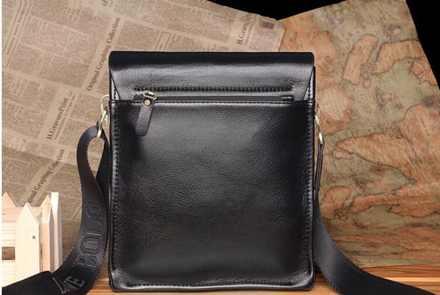 Красивая мужская кожаная сумка ПОЛО. Сумки на подарок. Качество. Стиль. Модные мужские сумки. Код: КСЕ77 - фото 2