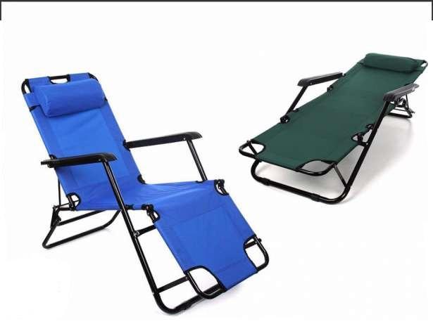 Садовое кресло лежак шезлонг Furnide с подголовником (садове крісло з підголовником) - фото 2