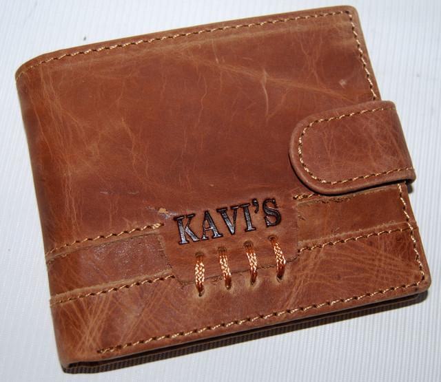 """Мужской кожаный кошелек, портмоне, бумажник KAVI""""S. Кошелек на подарок. Подарок для мужчин. НАТУРАЛЬНАЯ КОЖА! - фото 1"""