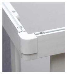 Душевая кабина квадратная МетаКам 90х90х177 4-х стенная 2-х дверная - фото 3