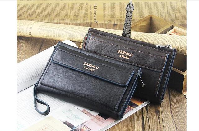 Качественная Мужская кожаная сумка, борсетка, клатч, кошелек ДАНИЛУ. Код: КСЕ68 - фото 1