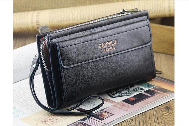 Качественная Мужская кожаная сумка, борсетка, клатч, кошелек ДАНИЛУ. Код: КСЕ68 - фото 2