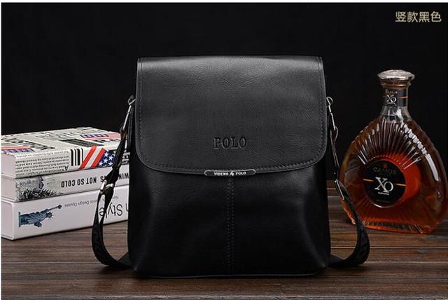 Хит продаж 2015г !! Стильная Мужская кожаная сумка ПОЛО. Кожаная сумка ПОЛ Сумка на подарок мужчине. Код: КСЕ99 - фото 6