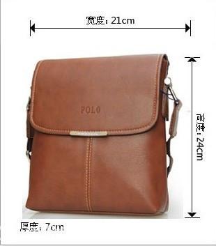 Мужская кожаная сумка POLO. Сумки кожаные. Кожанная cумка. Код: КС2-1 - фото 6