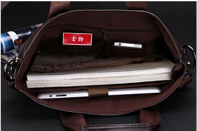Мужская кожаная сумка Polo. Портфель. Бизнес сумка.  Высокое качество. Сумка через плече. Код: КС23. - фото 4