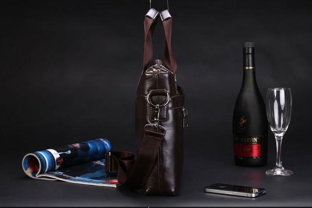 Мужская кожаная сумка Polo. Портфель. Бизнес сумка.  Высокое качество. Сумка через плече. Код: КС23. - фото 8