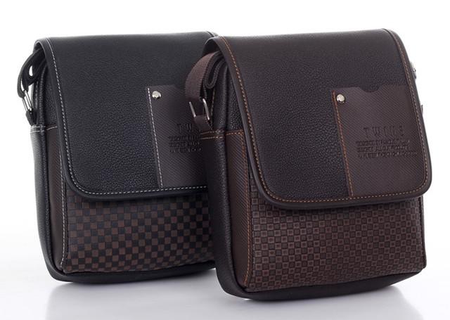 Мужская кожаная сумка. Офисный портфель. Недорогая сумка. Качественная сумка. Код: КСД41. - фото 4
