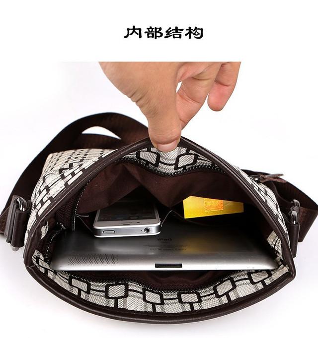 Мужская кожаная сумка. Высокое качество сумки. Удобная стильная сумка. Сумки через плече. Код: КС27-3 - фото 7
