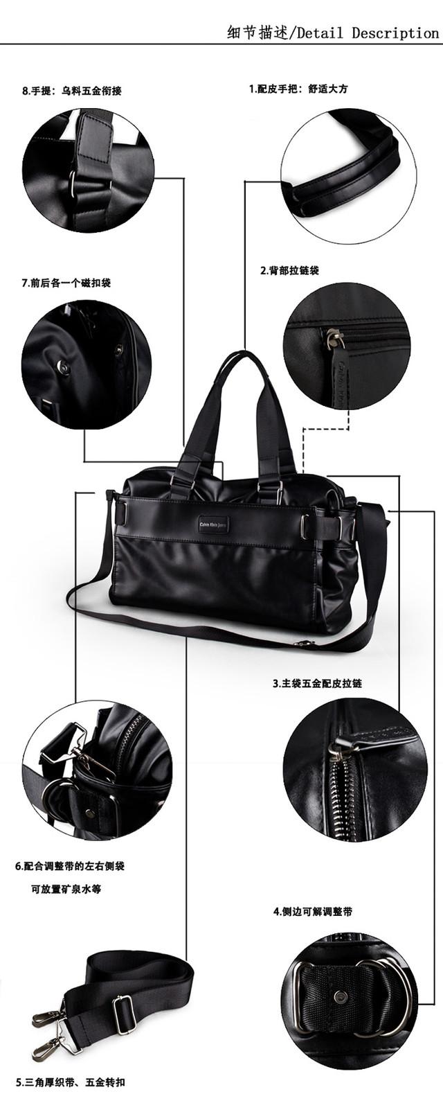 Городская сумка Calvin Klein. Мужская кожаная сумка. Дорожная сумка. Сумки из кожи. Удобная сумка. Код: КСГ1 - фото 7