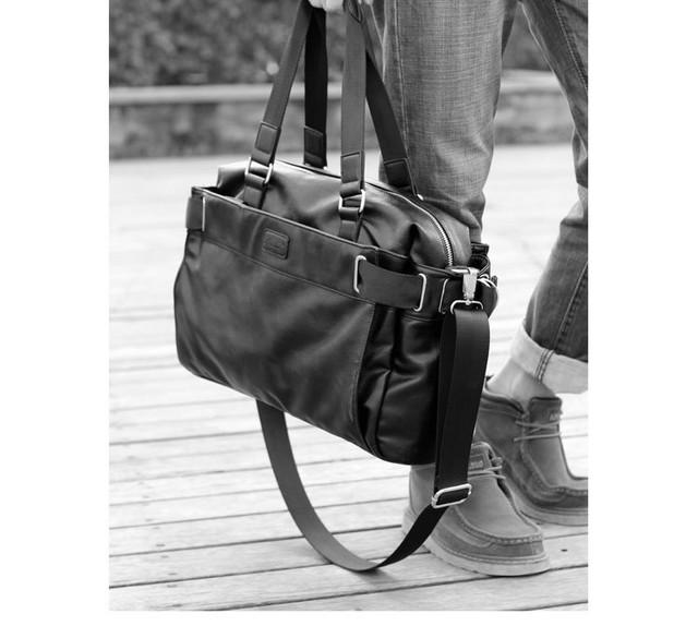 Городская сумка Calvin Klein. Мужская кожаная сумка. Дорожная сумка. Сумки из кожи. Удобная сумка. Код: КСГ1 - фото 1