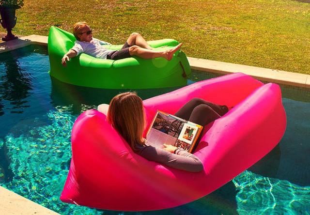 Надувной, удобный шезлонг. Надувной диван. Ламзак. Легкий, компактный диван. Надувное кресло. Код: КБН168 - фото 6