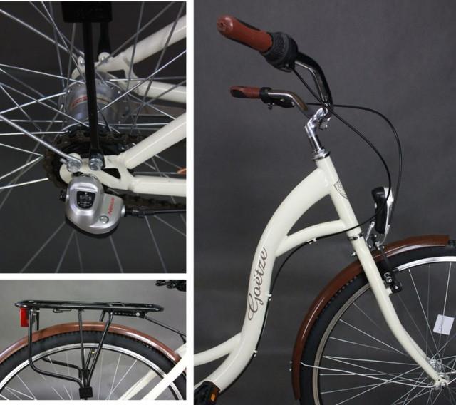 "Велосипед городской 28"" Goetze 3 передачи Shimano + LED фары + корзина - фото 1"