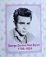Портреты английских поэтов и писателей Джордж Го рдон Но эл Ба йрон 25х33 см
