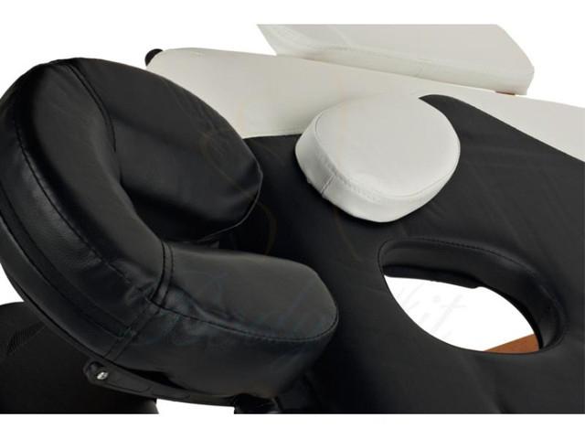 Массажный стол профессиональный деревянный 2-х сегментный Body Fit (Черно-белый) - фото 3
