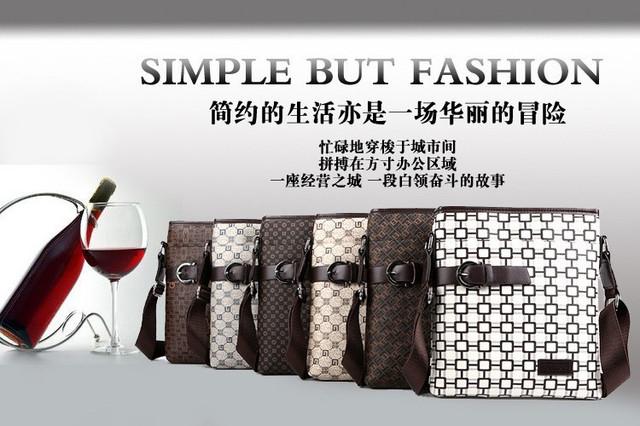 Мужская кожаная сумка. Высокое качество сумки. Удобная стильная сумка. Сумки через плече. Код: КС27-3 - фото 6
