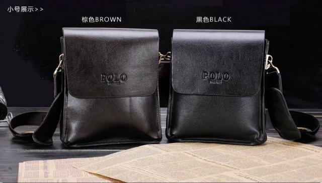 Красивая мужская сумка ПОЛО. Материал - комбинация кожи и кожиPU. Отличное качество. Кожаная сумка. Код: КСЕ52 - фото 1