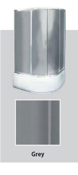 Душевая кабина квадратная BADICO SAN 8814 Grey 80х80х195 с низким поддоном и сифоном - фото 1