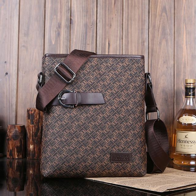 Мужская кожаная сумка. Высокое качество сумки. Удобная стильная сумка. Сумки через плече. Код: КС27-4 - фото 3