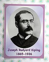 Портреты английских поэтов и писателей Rudyard Kipling (Киплинг) 25х33 см