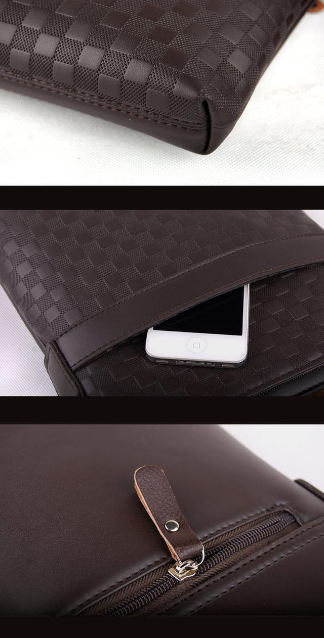 Молодежная Кожаная мужская сумка ПОЛО. Сумки для мужчин. Модные сумки. Бизнес сумки. Сумка мужская. Код: КСЕ31 - фото 14
