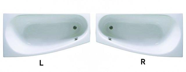 Ванна акриловая Aquaform Simi 150х80х43 асимметричная - фото 1