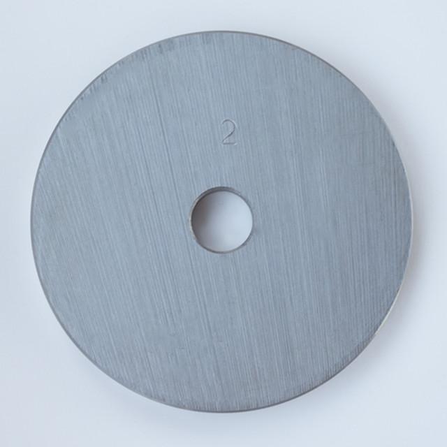 Блин для штанги или гантелей 2 кг металлический (диски утяжелители для гaнтелей и штaнги) - фото 2