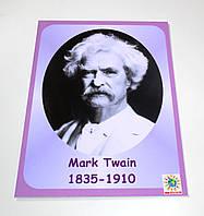 Портреты английских поэтов и писателей Марк Твен 25х33 см