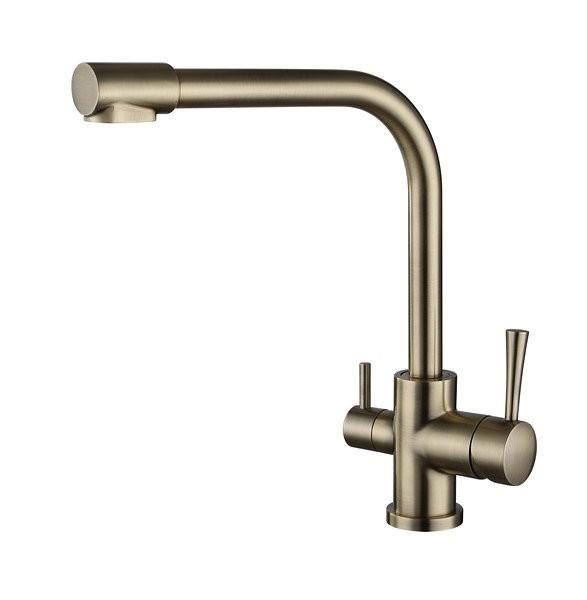 Смеситель для кухни с краном питьевой воды, латунный, однорычажный KAISER MERCUR 26044 - 3 Бронза