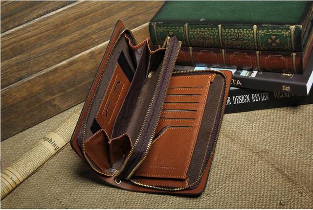 Стильный клатч KANGAROO KINGDOM. Недорогое кожаное портмоне. Практичный клатч. Код: КС30 - фото 3