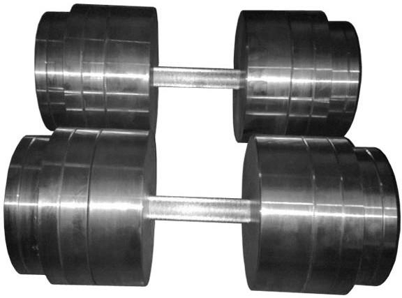 Гантели наборные 2*50 кг (Общий вес 100 кг) Металл (металеві гантелі розбірні наборні разборные для дома) - фото 1