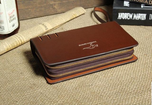 Стильный клатч KANGAROO KINGDOM. Недорогое кожаное портмоне. Практичный клатч. Код: КС30 - фото 5